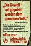 Aktionsbündnis Vereinigte Linke: Wahlplakat 1990