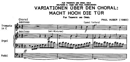 Variationen über den Choral: Macht hoch die Tür