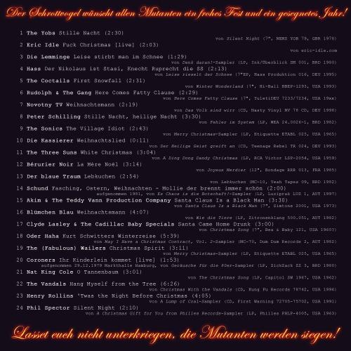 V/A: Ein rohes Fest: Der Mutantenmelodien Weihnachtssampler (2013) [Rückseite]